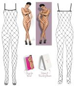 Obsessive Lingerie [ UK 6 - 12 ] Black N102 'Erotic' Bodystocking (E29924)